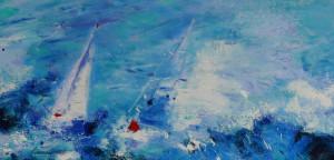 Ingrid Dingjan;  Sailing at full sea acryl 100x100 cm .jpg[2]